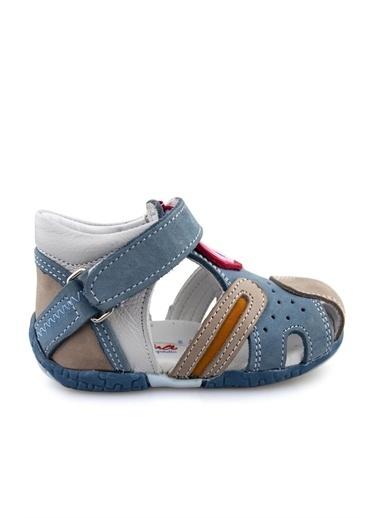 Cici Bebe Ayakkabı Kot Erkek Çocuk Sandalet Bej